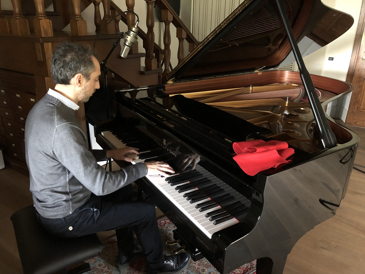 Piano Steinway and Sons Recording session
