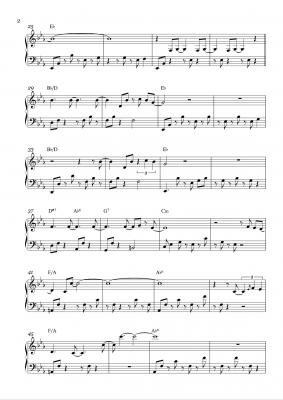 nuvole piano sheet music fabio di biase 02